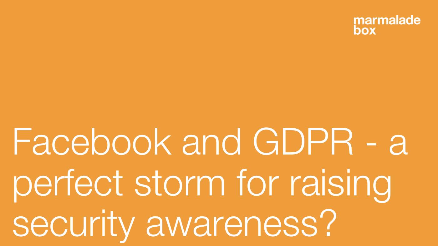 GDPR and security awareness